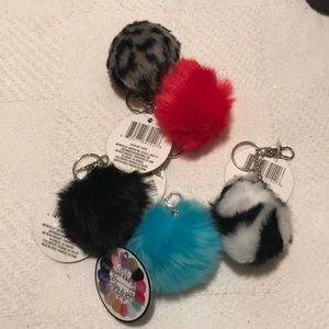 Girls Pom Key Chain! NWT!